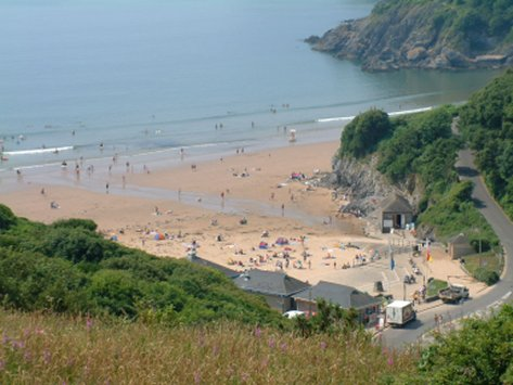 Overlooking Caswell Bay and Beach